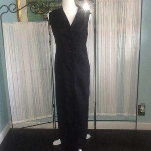 NWT EASY SPIRIT LINEN BLEND MAXI DRESS